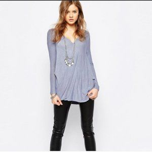 2/$25 Free People Miss Rose Blouse Blue Size XS
